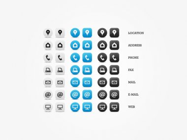 Multipurpose Business Card Icon Set of web icons