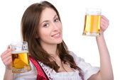 Fényképek lány a sör
