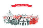Fotografie Vintage Pohlednice s staré Prahy