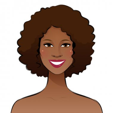 Smiling afro american woman