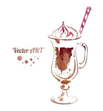 Coffee watercolor sketch