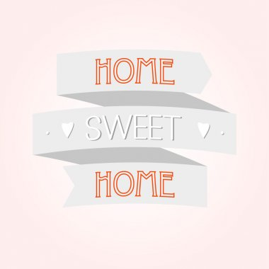 Home sweet home sign.