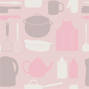 Icon set of kitchen tools