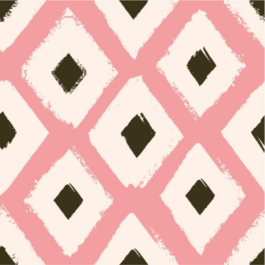 Folk abstract seamless pattern.