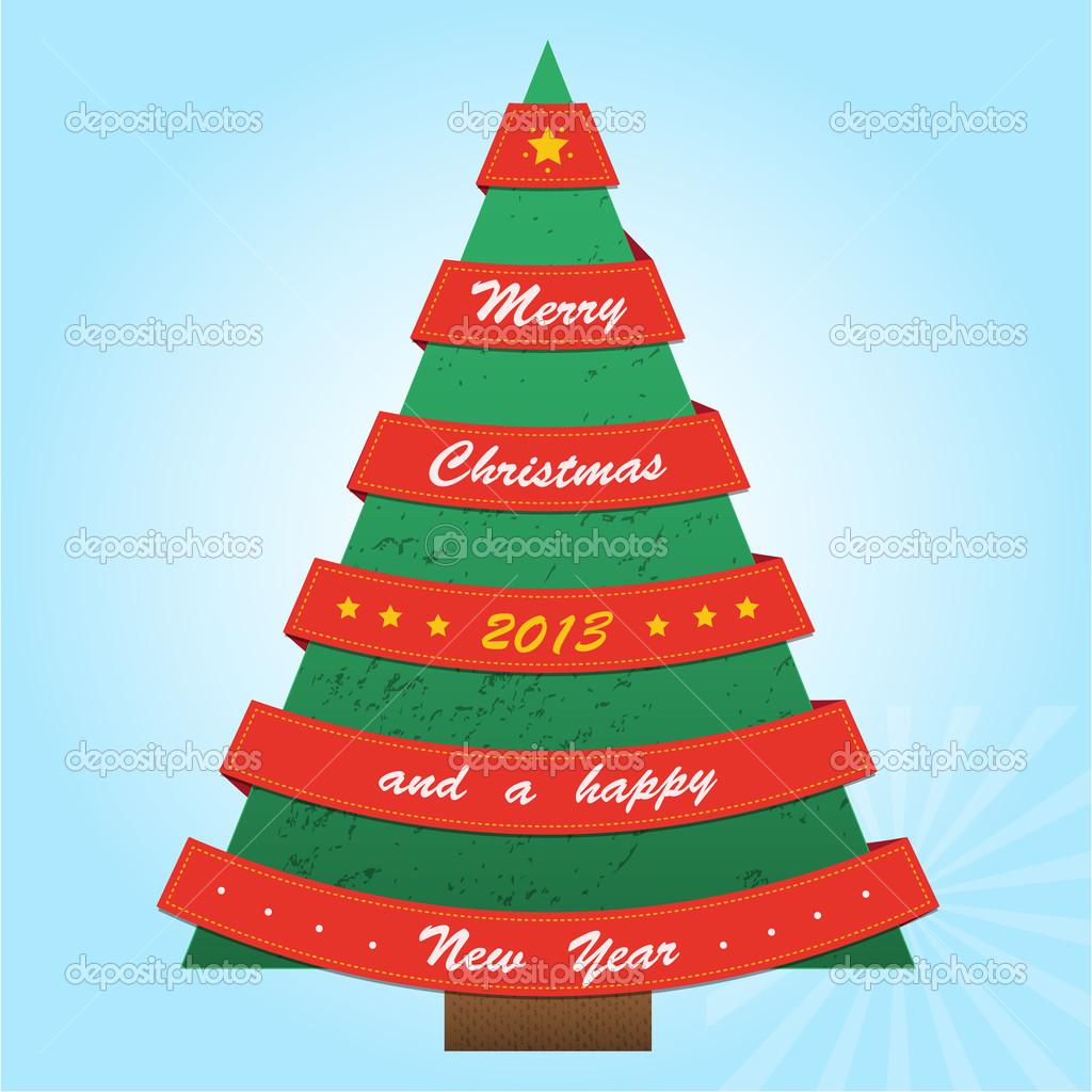 Schleifen Weihnachtsbaum.Weihnachtsbaum Mit Roten Schleifen Stockvektor Iliveinoctober