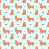 Corgi pes vzor bezešvé pozadí pro použití v designu