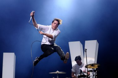 The Hives band performs