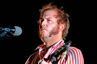 Bon Iver performs