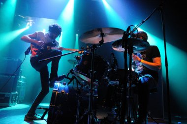 Japandroids band performs