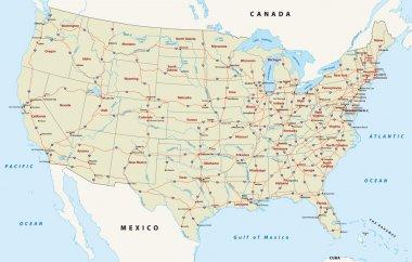 Us interstate highway map
