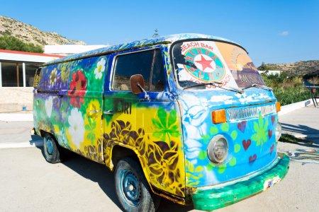 Bus in a retro style
