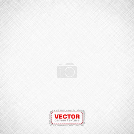 Illustration for Black and White canvas texture. EPS 10 vector illustration. Used transparency layers of background. - Royalty Free Image