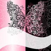 Pink-black vintage romantic frame