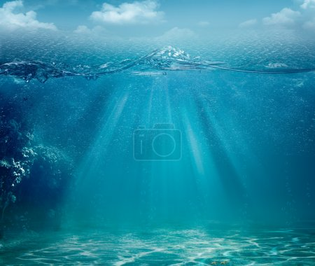 Photo for Abstract sea and ocean backgrounds for your design - Royalty Free Image