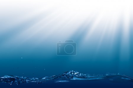 Deep Ocean, abstract environmental backgrounds with copyspace