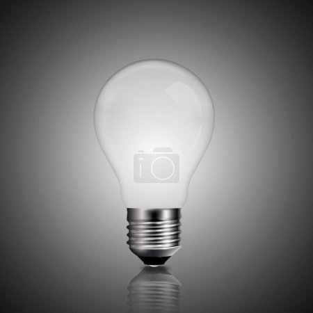 light bulb over grey backgrounds, abstract backgrounds