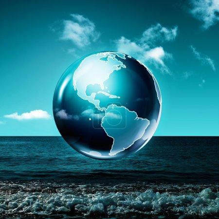 Photo pour Terre verte. Fonds environnementales Résumé - image libre de droit