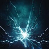 """Постер, картина, фотообои """"эффект электрического освещения, абстрактных техно стола"""""""