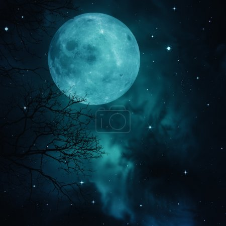 Photo for Full Moon on the skies, abstract natural backgrounds - Royalty Free Image