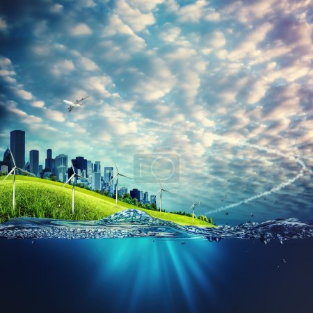 Photo for Eco and environmental concept backgrounds for your design - Royalty Free Image