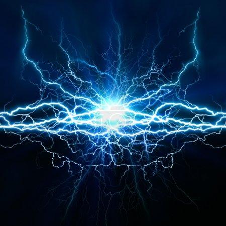 Photo pour Effet de la lumière électrique, abstract techno arrière-plans pour votre conception - image libre de droit