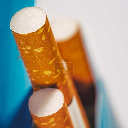 Background with few cigarettes