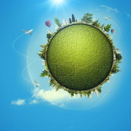 Global eco transportation concept