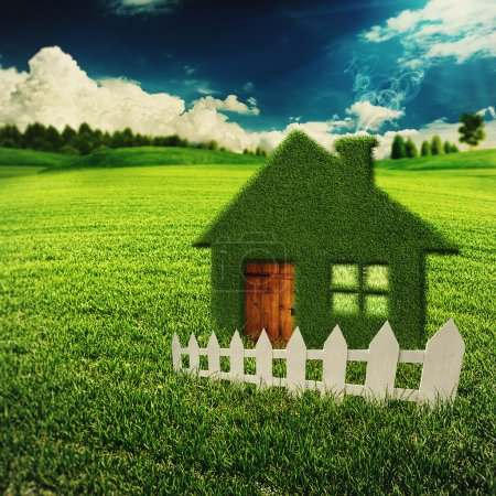 Photo for Eco House, abstract eco backgrounds for your design - Royalty Free Image
