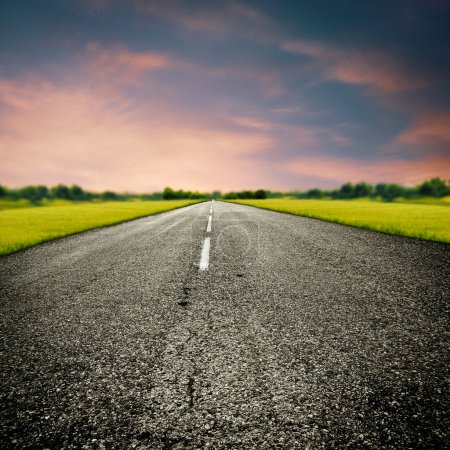 Photo for Country road, abstract transportation and travel backgrounds - Royalty Free Image