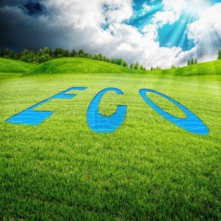 Photo pour Eco prairie, milieux environnementaux abstraits pour votre conception - image libre de droit