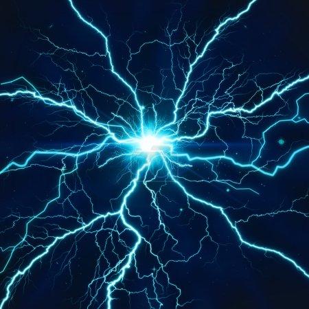 Foto de Flash en los antecedentes de la noche - Imagen libre de derechos