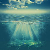 Deep water background
