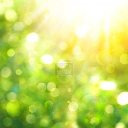 Photo pour Fond naturel abstrait avec rayon de soleil et bokeh beauté - image libre de droit