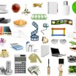 Isolated objects on the white background...