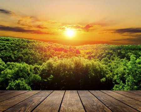 Photo pour Arrière-plans texturées bois dans un intérieur de chambre sur les antécédents de forêt automne - image libre de droit