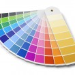 Pantone color palette guide isolated on white back...