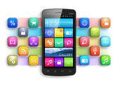 Concetto di mobilità, internet e comunicazione
