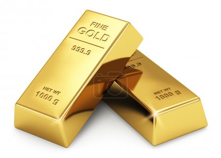 Business financial banking concept: set of gold in...