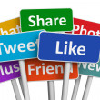Social media and networking concept: group of colo...