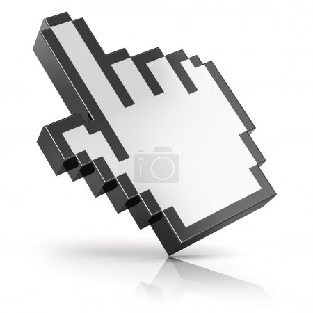 Link selection hand computer mouse cursor isolated...