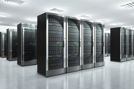 Photo for Modern network and communication concept: server room in datacenter - Royalty Free Image