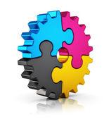 CMYK puzzle felszerelés