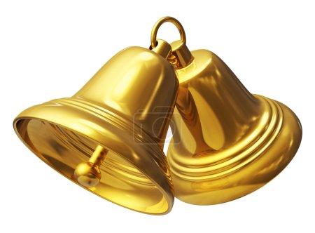 Golden Christmas bells