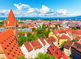 Aerial panorama of Nuremberg, Germany