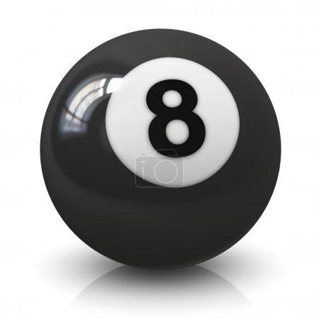 Eight billiard ball