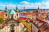 Aerial view of Prague, Czech Republic
