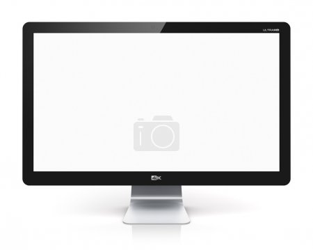 Blank TV or computer monitor