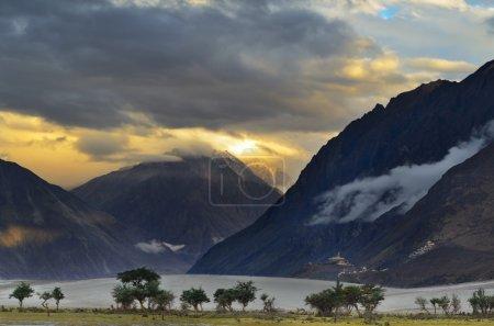 Sunset over Nubra valley
