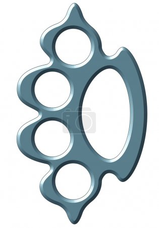 Illustration of the brass knuckles...