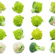 Collection of Romanesco broccoli and cauliflower i...